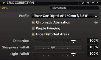 PhaseOne LensCorrection