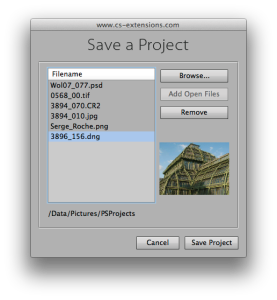 PS Projects - Save