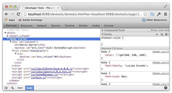 Chrome Debugging Tool