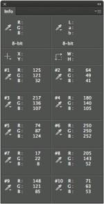 10 Color Samplers Info Palette