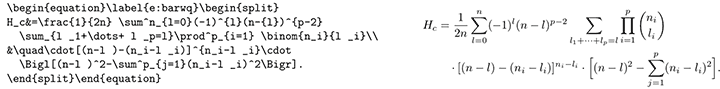 LaTeX equations example